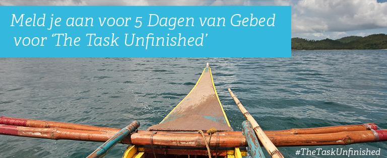Meld je aan voor vijf dagen van gebed voor 'The Task Unfinished'