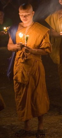 Monk by Candlelight buddhism