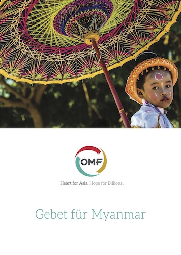 OMF Gebetsheft über Myanmar