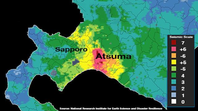 Erdbeben in Japan Hokkaido
