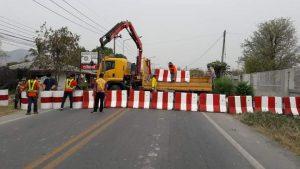 チェンライとチェンマイ間の県境を封鎖