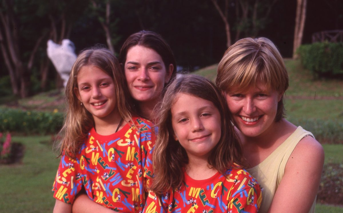 1997 Julie and Jane with Harm and Mel Llama Drama